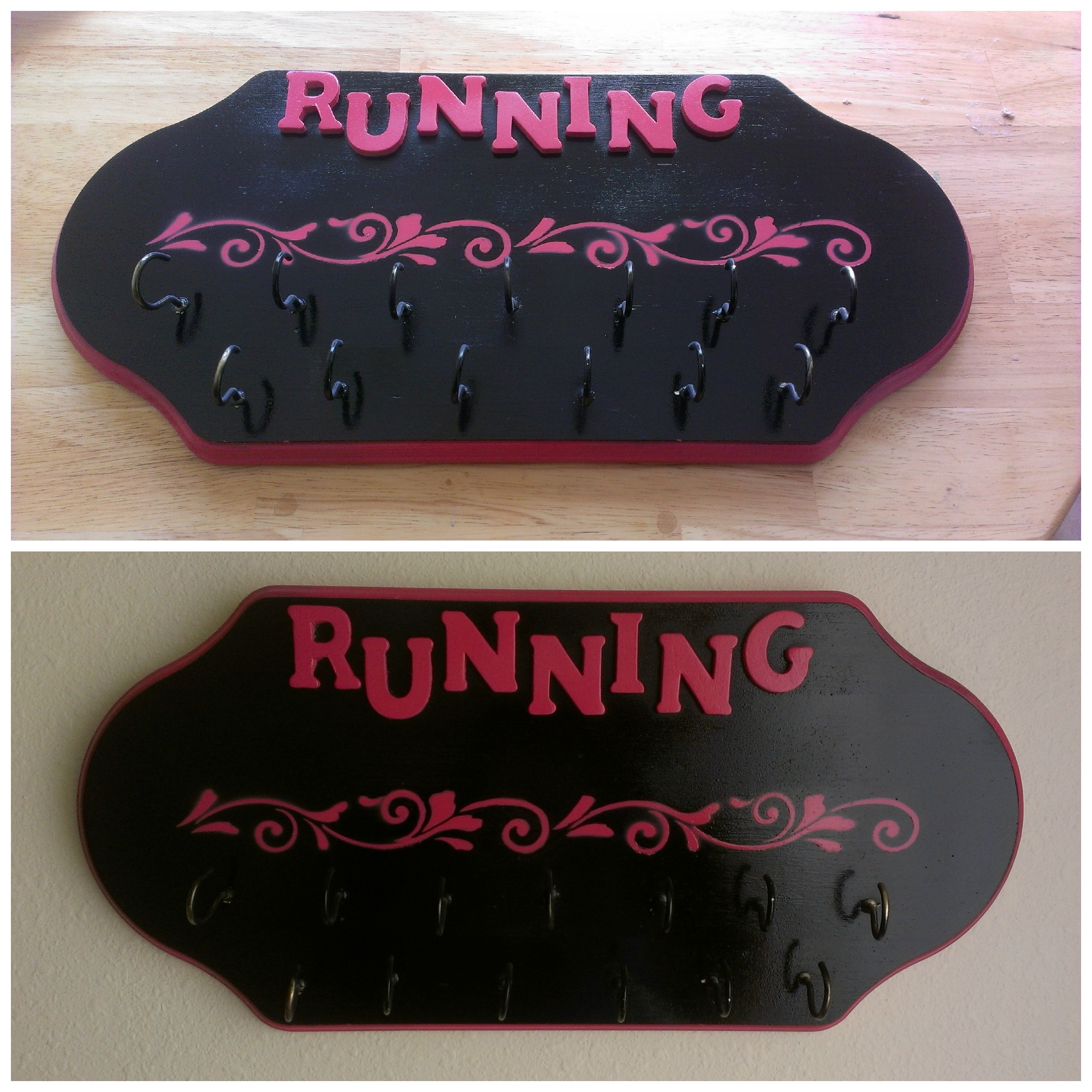 Diy Running Medal Display Rack Defining Hopes