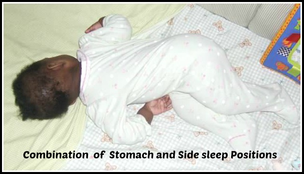 baby raim stomach side sleep