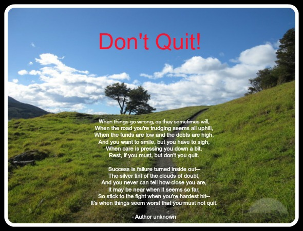Winning Words Wednesday: Don't Quit!